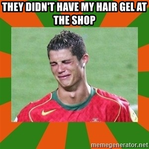 cristianoronaldo - THEY DIDN'T HAVE MY HAIR GEL AT THE SHOP