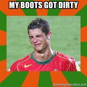 cristianoronaldo - MY BOOTS GOT DIRTY