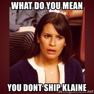 hypocritical glee fandom - what do you mean  you dont ship Klaine