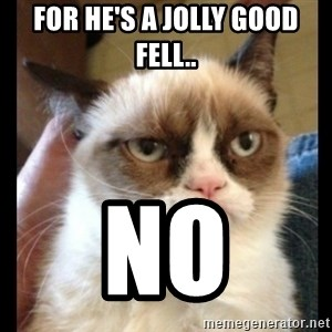 Frown Cat - for he's a jolly good fell.. no