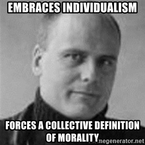 Stefan Molyneux  - Embraces indiViduaLIsm Forces a collective DefiNition of morality
