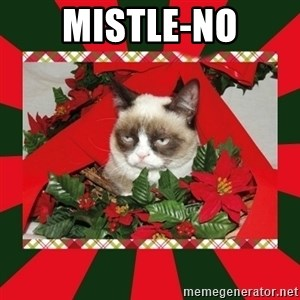GRUMPY CAT ON CHRISTMAS - mistle-no