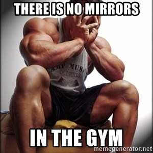Fit Guy Problems - there is no mirrors in the gym