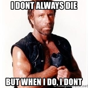 Chuck Norris Meme - i dont always die but when i do, i dont