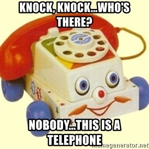 Sinister Phone - Knock, knock...who's there? Nobody...this is a telephone