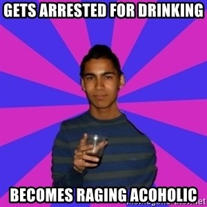 Bimborracho - Gets arrested for drinking becomes raging acoholic
