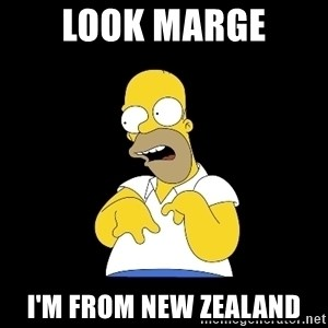 look-marge - Look marge I'm from new zealand
