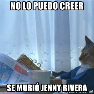 Sophisticated Cat - no lo puedo creer se murió jenny rivera