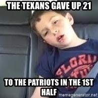 is this real life - The texans gave up 21  to the patriots in the 1st half
