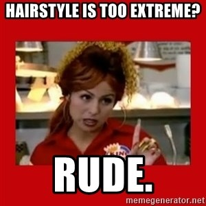 Bonquiqui - Hairstyle is Too Extreme? Rude.