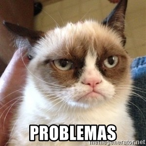 Mr angry cat - PROBLEMAS