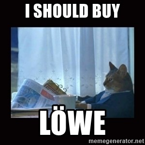 i should buy a boat cat - i should buy löwe