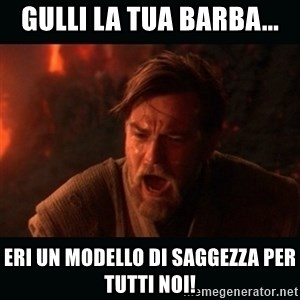 "Obi Wan Kenobi ""You were my brother!"" - gulli la tua barba... eri un modello di saggezza per tutti noi!"