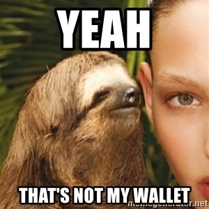 The Rape Sloth - Yeah That's not my wallet