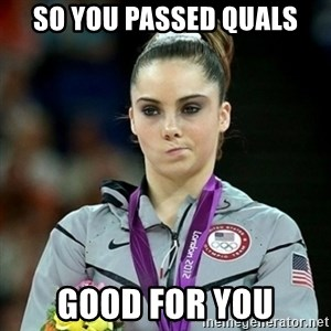 Not Impressed McKayla - So you passed quals good for you