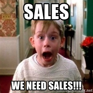 home alone - SALES WE NEED SALES!!!