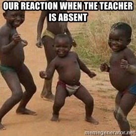 african children dancing - our reaction when the teacher is absent