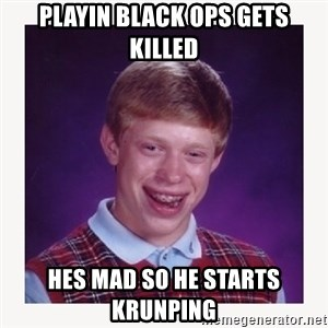 nerdy kid lolz - PLAYIN BLACK OPS GETS KILLED HES MAD SO HE STARTS KRUNPING