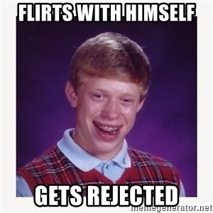 nerdy kid lolz - FLIRTS WITH HIMSELF  GETS REJECTED