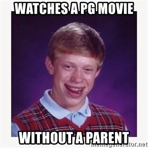 nerdy kid lolz - WATCHES A PG MOVIE WITHOUT A PARENT