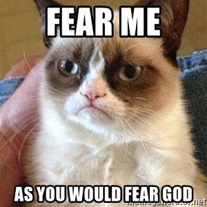 Grumpy Cat Face - Fear me  As you would fear god