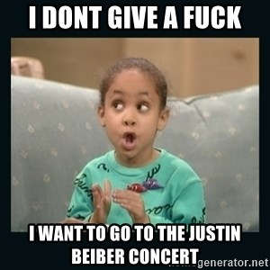 Raven Symone - i dont give a fuck i want to go to the justin beiber concert