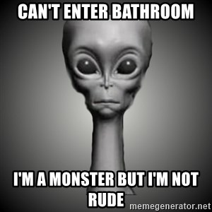 HetaOni Steve - Can't enter bathroom I'm a monster but I'm not rude