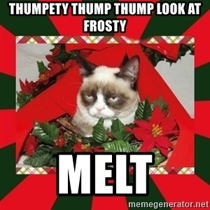GRUMPY CAT ON CHRISTMAS - thumpety thump thump look at frosty melt