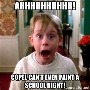home alone - AHHHHHHHHHH! CQPEL CAN'T EVEN PAINT A SCHOOL RIGHT!