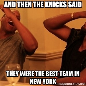 Jay-Z & Kanye Laughing - And then the knicks said they were the best team in NEw York
