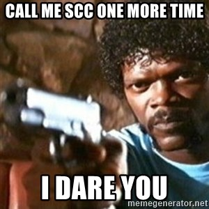 samuel jackson with a gun - call me scc one more time I dare you