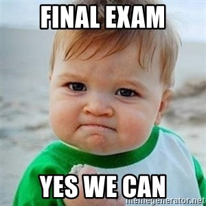 Victory Baby - Final exam Yes we can