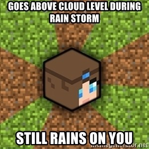 Minecraft Logic - Goes above cloud level during rain storm Still rains on you