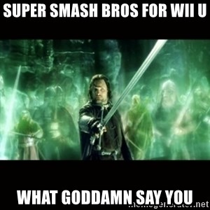 Aragorn What Say You - super smash bros for wii u what goddamn say you