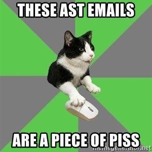 roleplayercat - THESE AST EMAILS  ARE A PIECE OF PISS