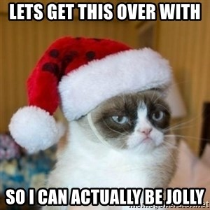 Grumpy Cat Santa Hat - lets get this over with  so i can actually be jolly