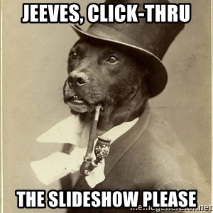 rich dog - Jeeves, click-thru the slideshow please