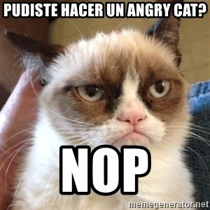 Mr angry cat - pudiste hacer un angry cat? nop