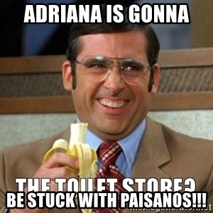 Toilet Store - Adriana is gonna  Be stuck with paisanos!!!