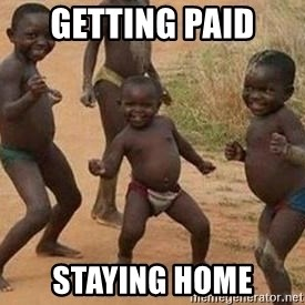 african children dancing - getting paid  staying home
