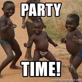 african children dancing - party time!