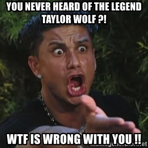Pauly D - You Never heard of the legend taylor wolf ?! wtf is wrong with you !!