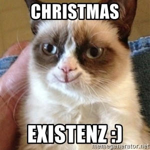 Grumpy Cat Happy Version - Christmas Existenz :)
