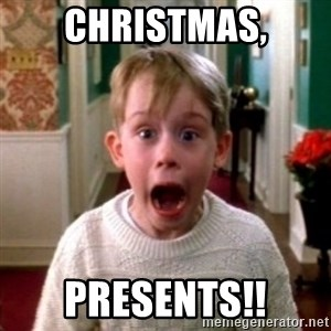 home alone - Christmas, Presents!!