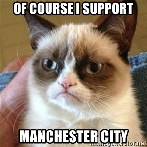 Grumpy Cat  - Of course i support manchester city