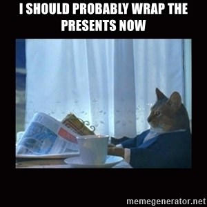 i should buy a boat cat - I should probably wrap the presents now