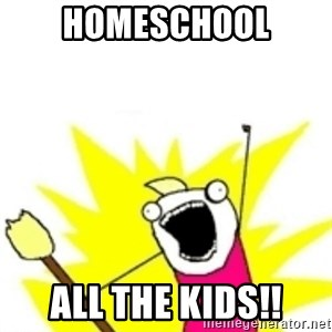 x all the y - homeschool all the kids!!
