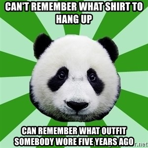 Dyspraxic Panda - Can't remember what shirt to hang up can remember what outfit somebody wore five years ago