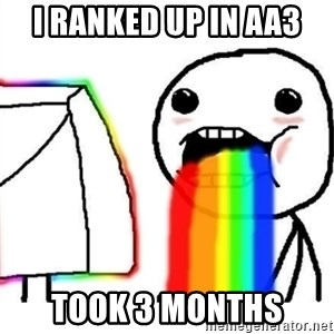 Puking Rainbows - I RANKED UP IN AA3 TOOK 3 MONTHS