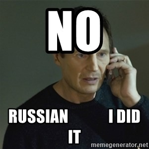 I don't know who you are... - NO RUSSIAN             I DID IT